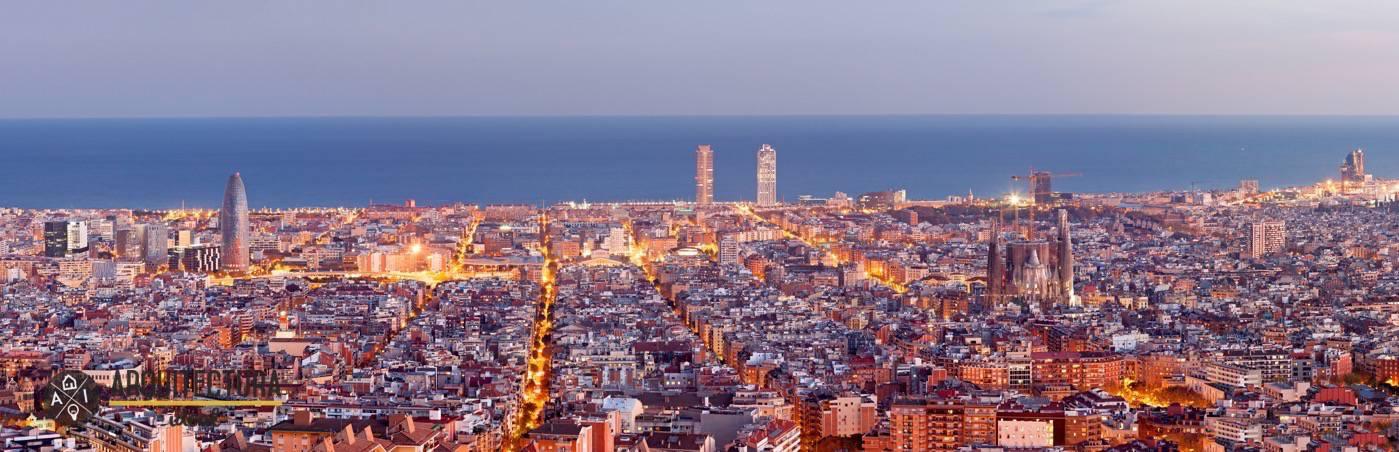 Panorámica de la ciudad de Barcelona en España