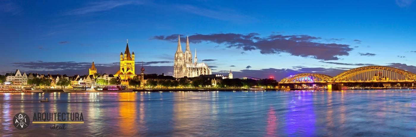 Panorámica de la ciudad de Colonia en Alemania