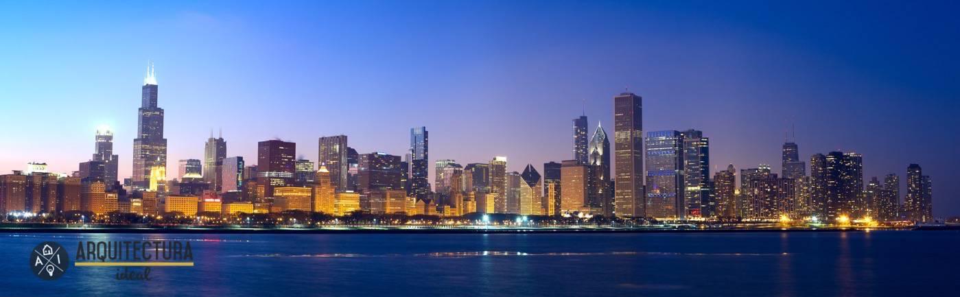 Panorámica de la ciudad de Chicago, EEUU
