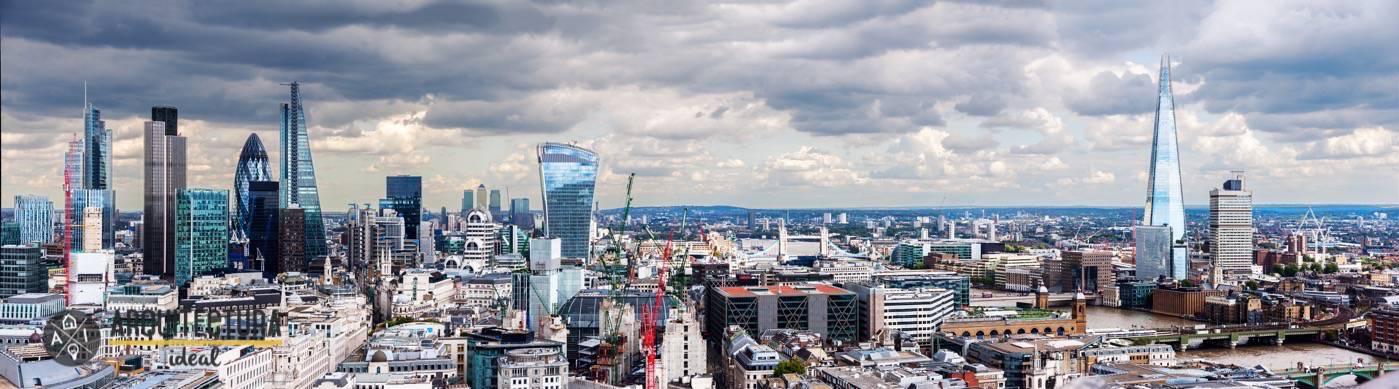 Panorámica de la ciudad de Londres en Reino Unido