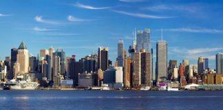 Panorámica de Mahattan en la ciudad de Nueva York, EEUU