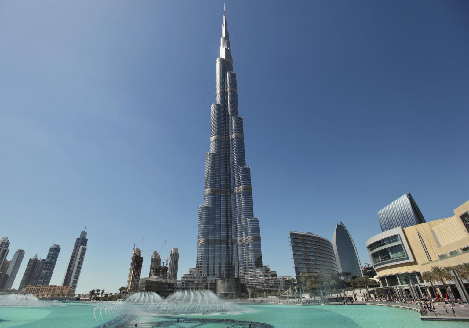 The Burj Khalifa stands in Dubai