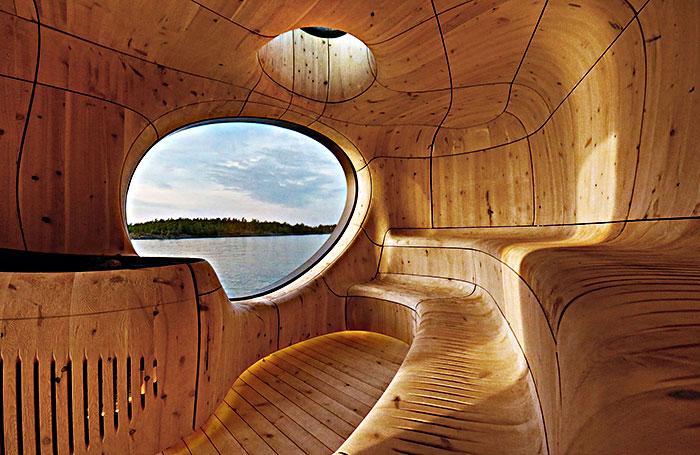 Elegante sauna canadiense con unas vistas extraordinarias 1