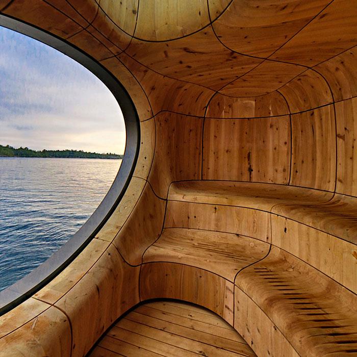 Elegante sauna canadiense con unas vistas extraordinarias 4