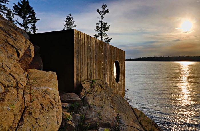 Elegante sauna canadiense con unas vistas extraordinarias 5