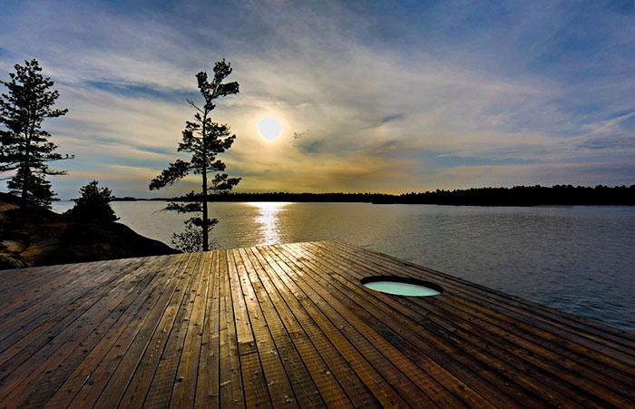 Elegante sauna canadiense con unas vistas extraordinarias 7