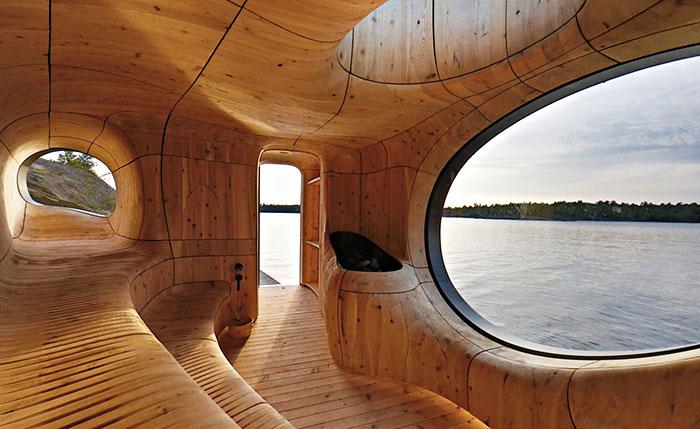Elegante sauna canadiense con unas vistas extraordinarias 8