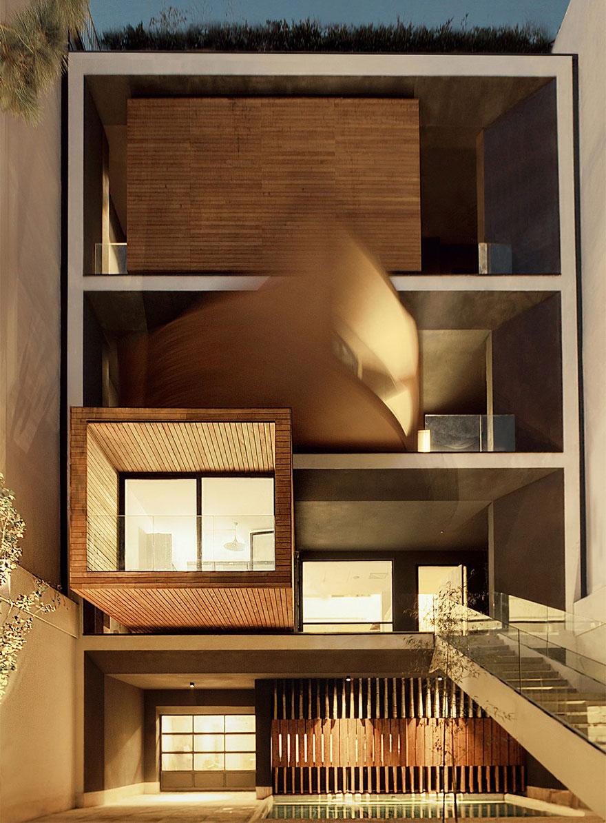 Una alucinante casa en Teheran es capaz de girar hasta 90 grados para adaptarse al clima - Arquitectura Ideal 1
