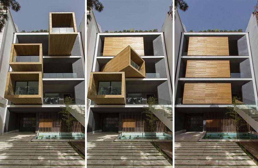 Una alucinante casa en Teheran es capaz de girar hasta 90 grados para adaptarse al clima - Arquitectura Ideal 2
