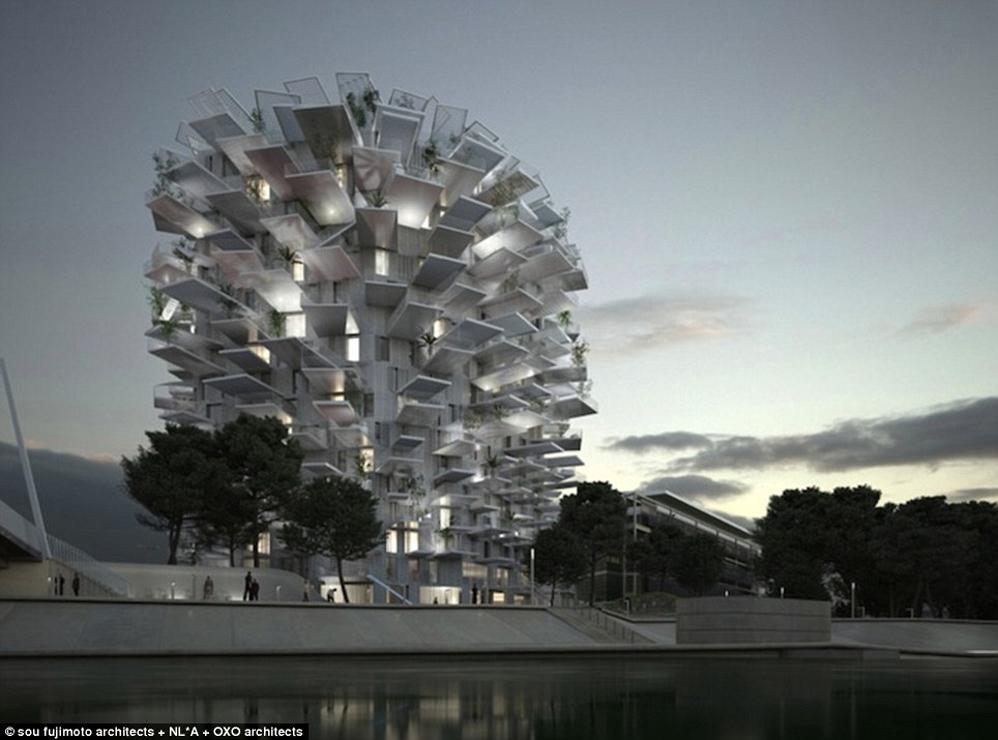 edificio árbol montpellier 4