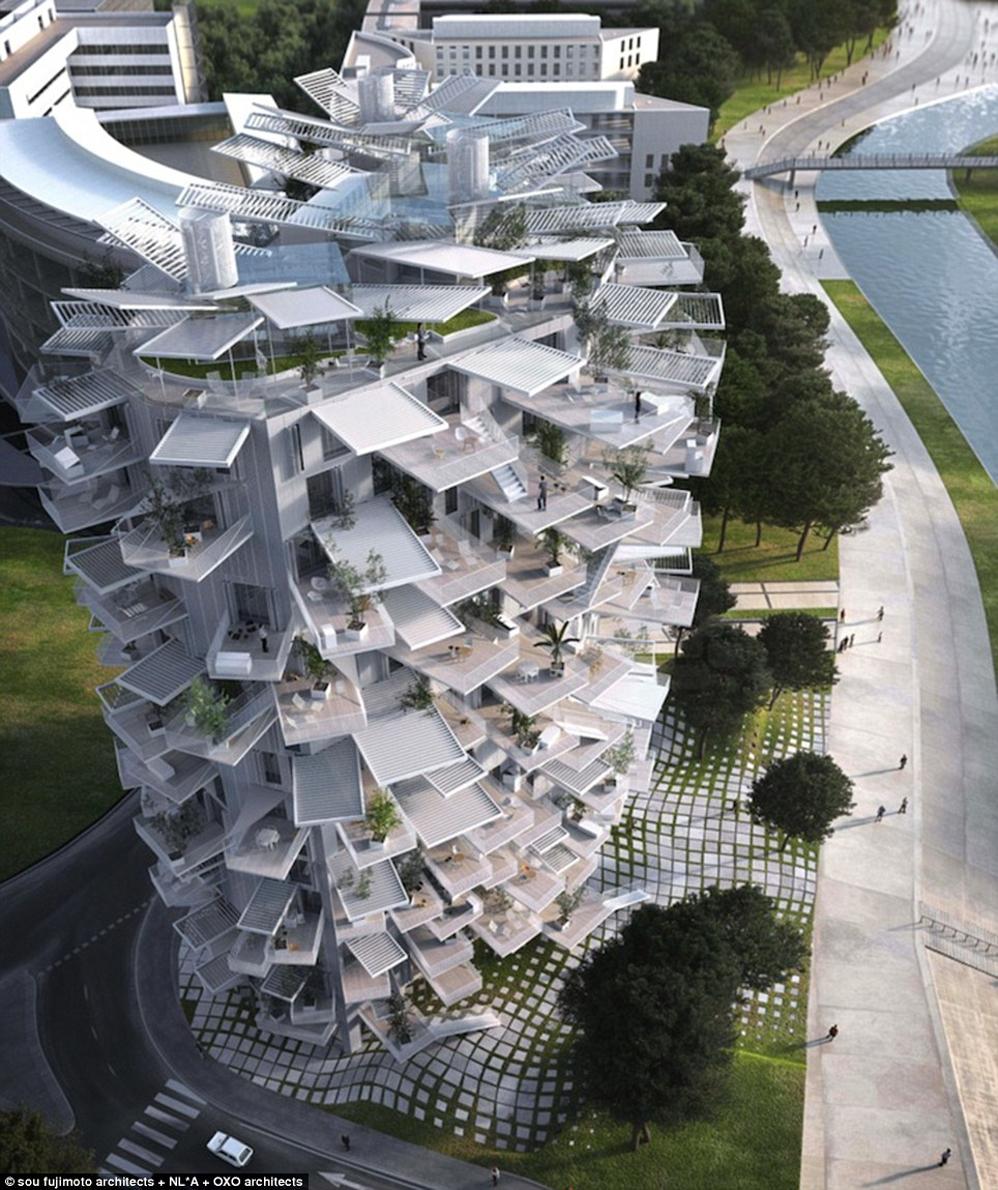 edificio árbol montpellier