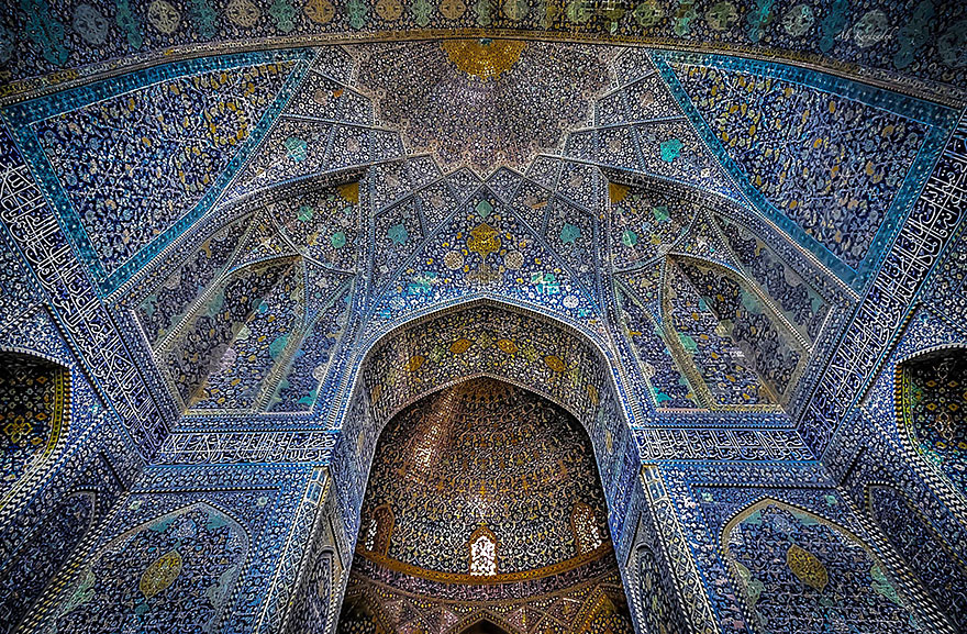 gran mosque of isfahan iran