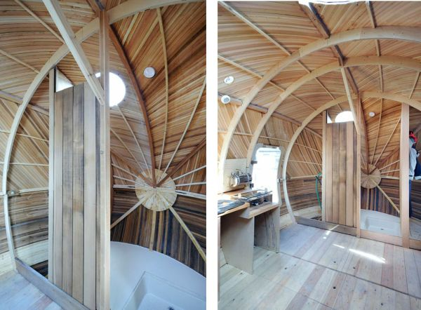 Exbury Egg, la casa con forma de huevo que flota y que sirve como centro de investigación 5