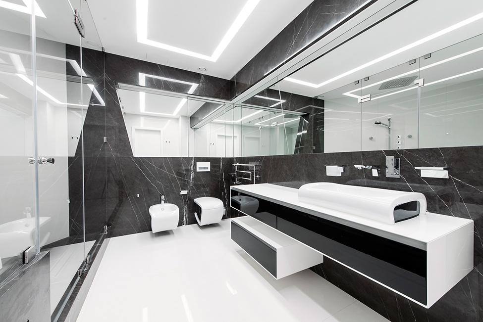 Geometria en blanco y negro en un apartamento de Moscu 16