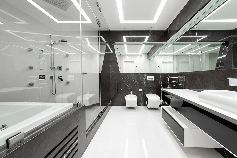 Geometria en blanco y negro en un apartamento de Moscu 17