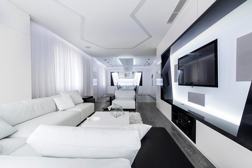 Geometria en blanco y negro en un apartamento de Moscu 2