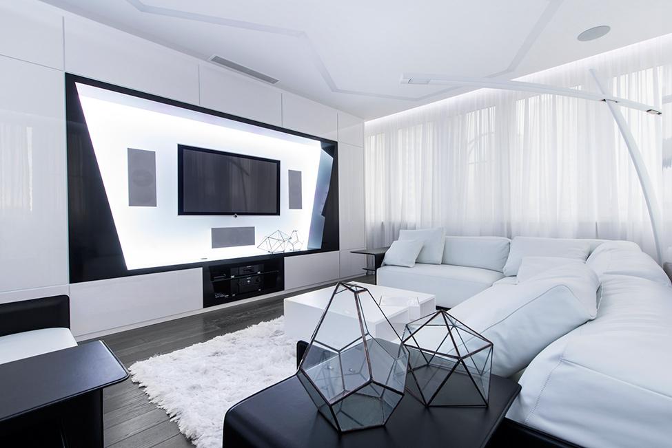 Geometria en blanco y negro en un apartamento de Moscu 4