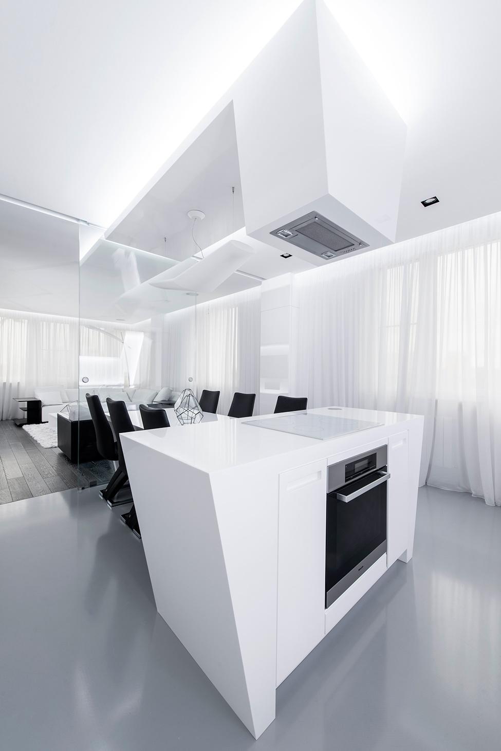 Geometria en blanco y negro en un apartamento de Moscu 7