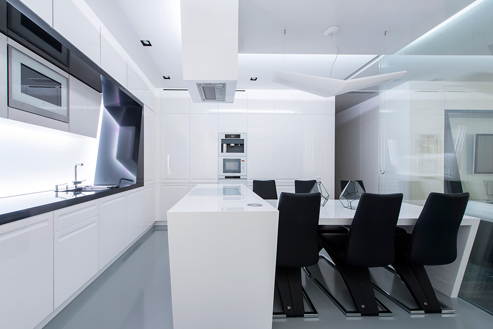 Geometria en blanco y negro en un apartamento de Moscu 8