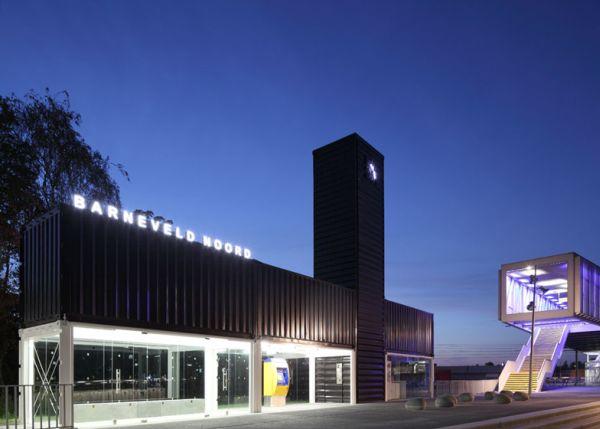 Increíble estación de tren de Holanda hecha con contenedores 11