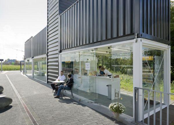 Increíble estación de tren de Holanda hecha con contenedores 3