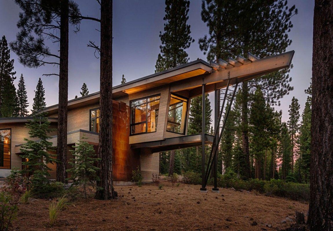 Moderna cabaña en California que se funde con el paisaje 1