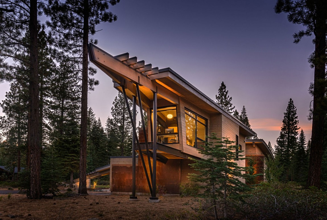 Moderna cabaña en California que se funde con el paisaje 3