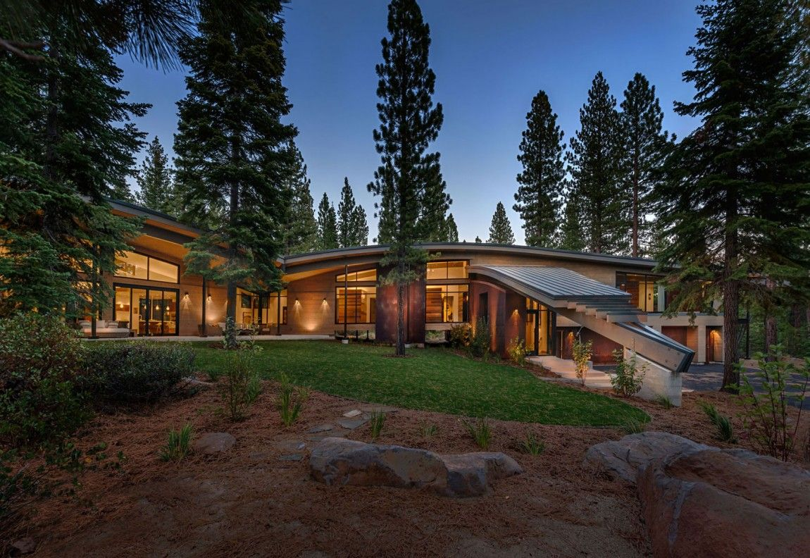 Moderna cabaña en California que se funde con el paisaje 4