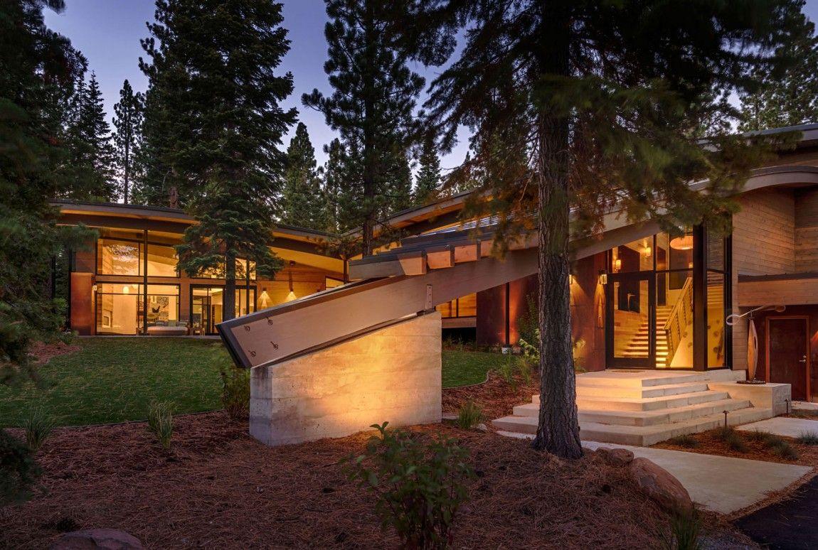 Moderna cabaña en California que se funde con el paisaje 5