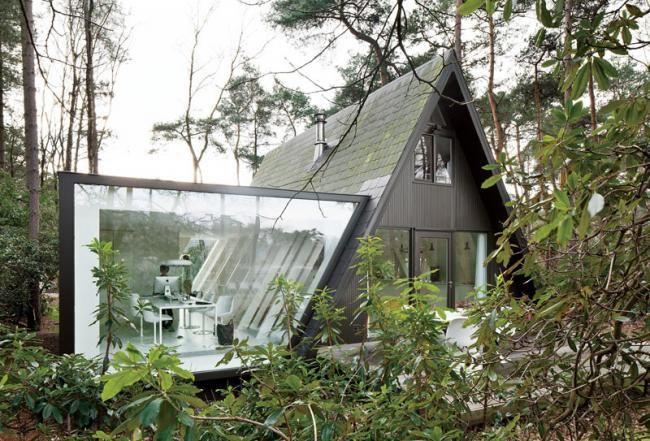 Preciosa cabana en mitad de un bosque belga de estilo minimalista 1