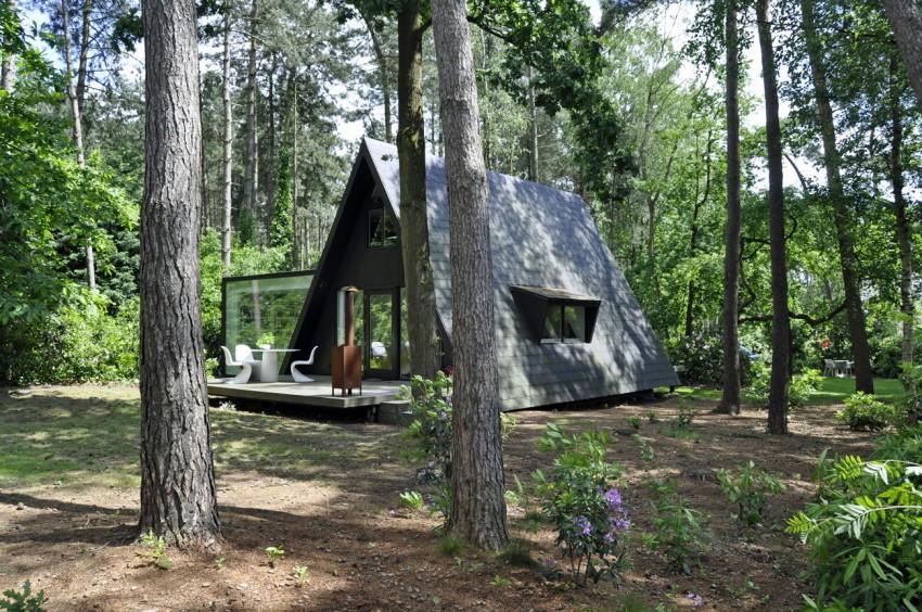 Preciosa cabana en mitad de un bosque belga de estilo minimalista 3