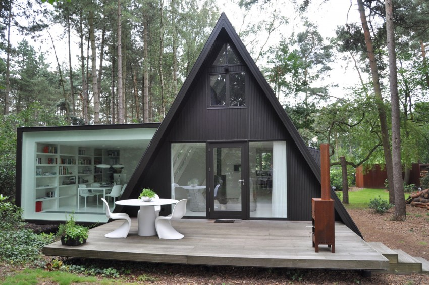 Preciosa cabana en mitad de un bosque belga de estilo minimalista 4