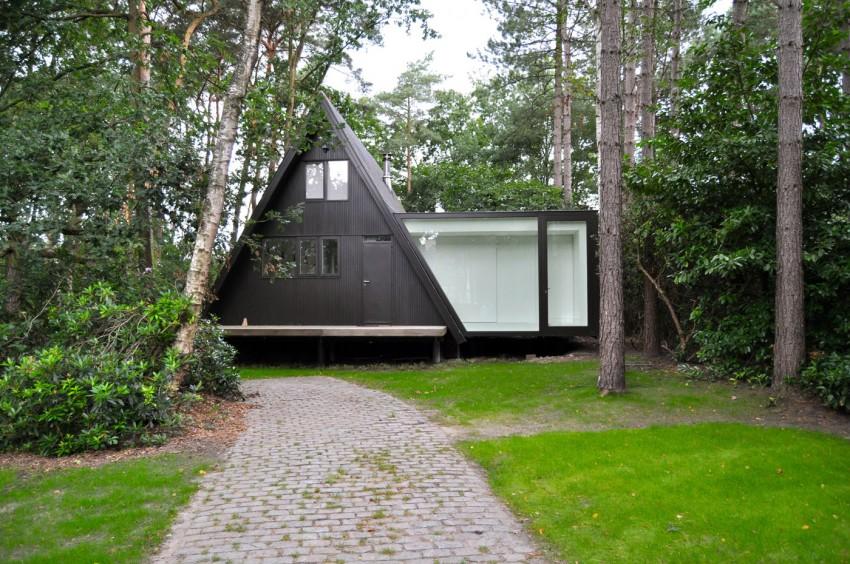 Preciosa cabana en mitad de un bosque belga de estilo minimalista 5