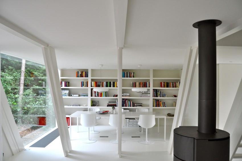 Preciosa cabana en mitad de un bosque belga de estilo minimalista 9