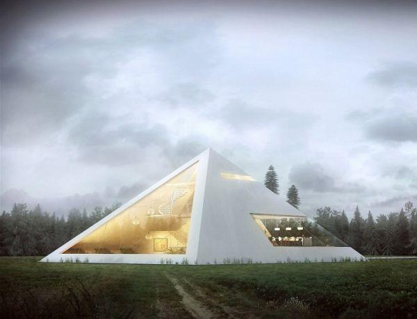 Una casa muy original con estructura piramidal 1