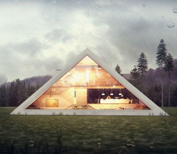Una casa muy original con estructura piramidal 2