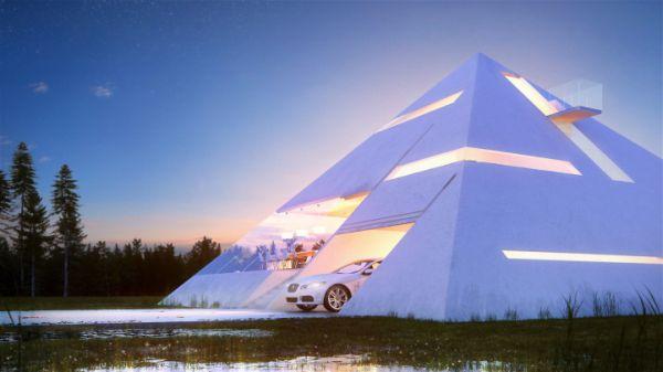 Una casa muy original con estructura piramidal 3