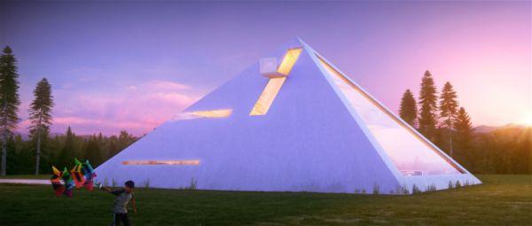Una casa muy original con estructura piramidal 4