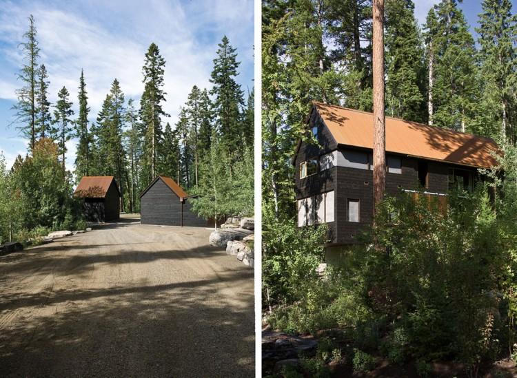 casa de campo roca y madera 12