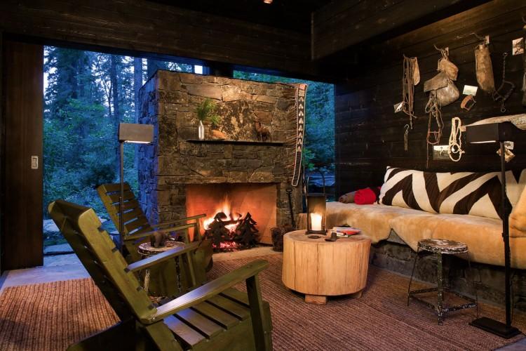casa de campo roca y madera 15