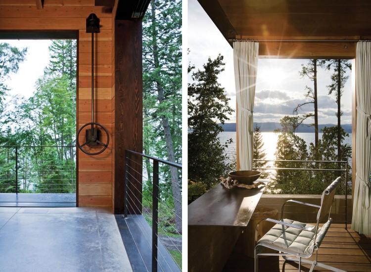 casa de campo roca y madera 16