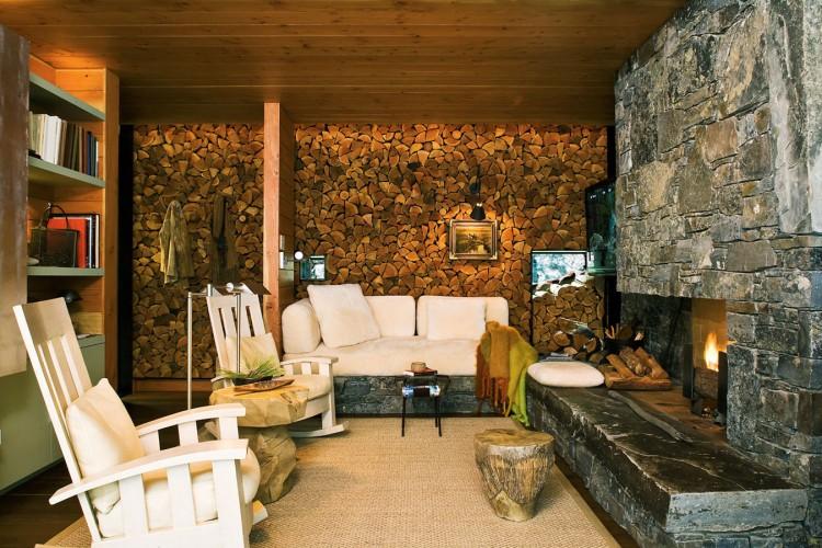 casa de campo roca y madera 17