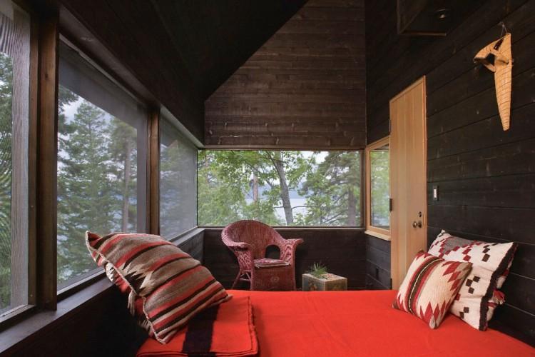 casa de campo roca y madera 19