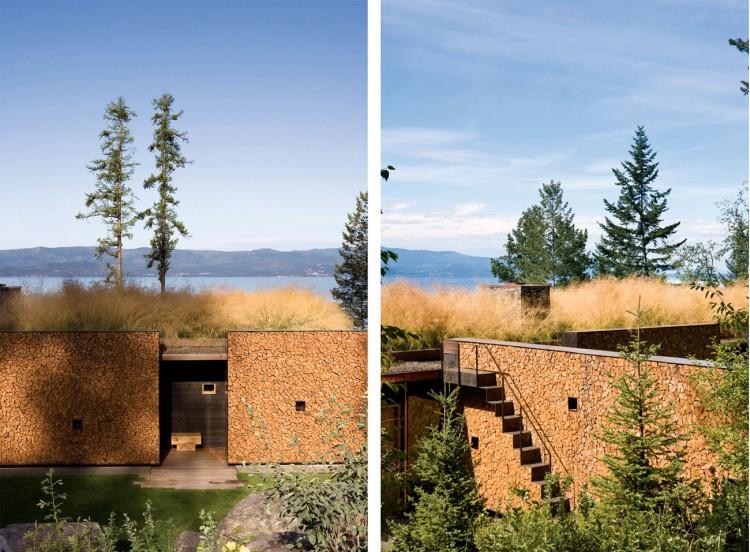 casa de campo roca y madera 4