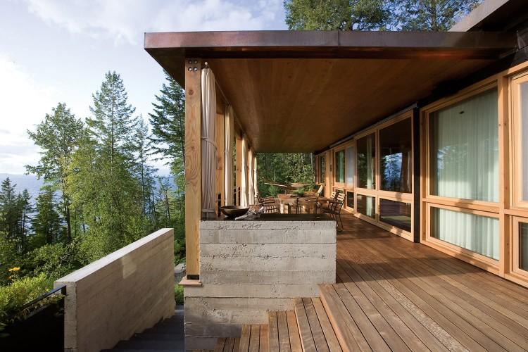 casa de campo roca y madera 7