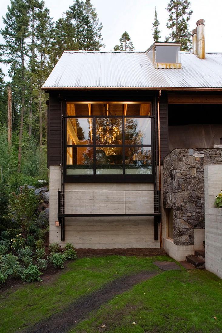 casa de campo roca y madera 9