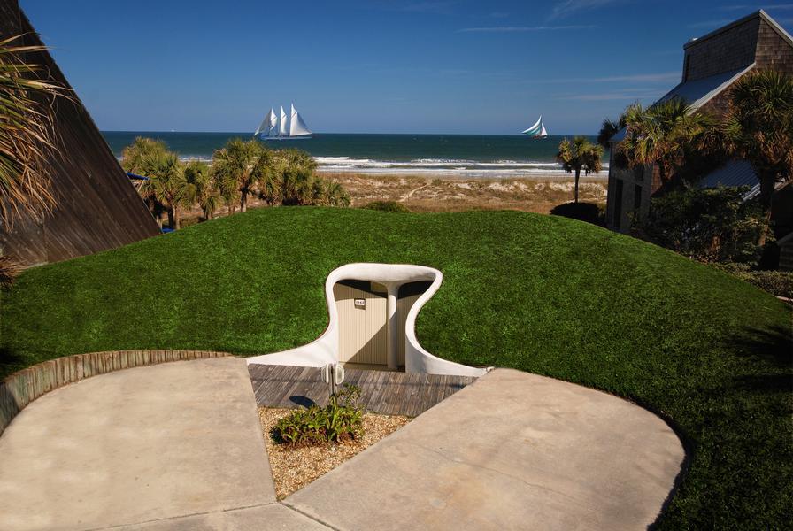 Cuando los huracanes atacan, la mejor solución es construirse una casa hobbit 8