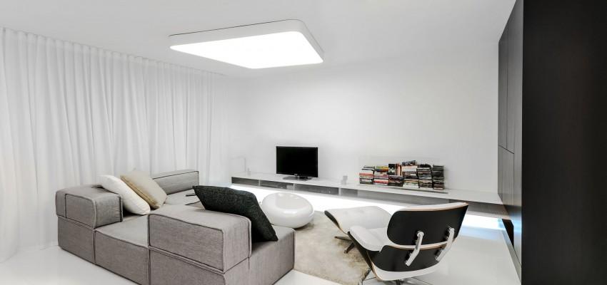 Apartamento minimalista con un dise o fresco y un ambiente for Apartamentos minimalistas