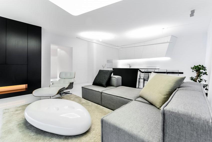 Apartamento minimalista con un diseño fresco y un ambiente acogedor 2