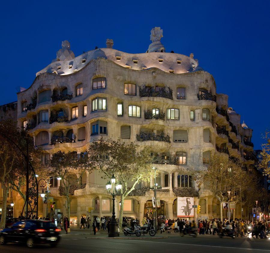 Casa Milá, obra de Antoni Gaudí
